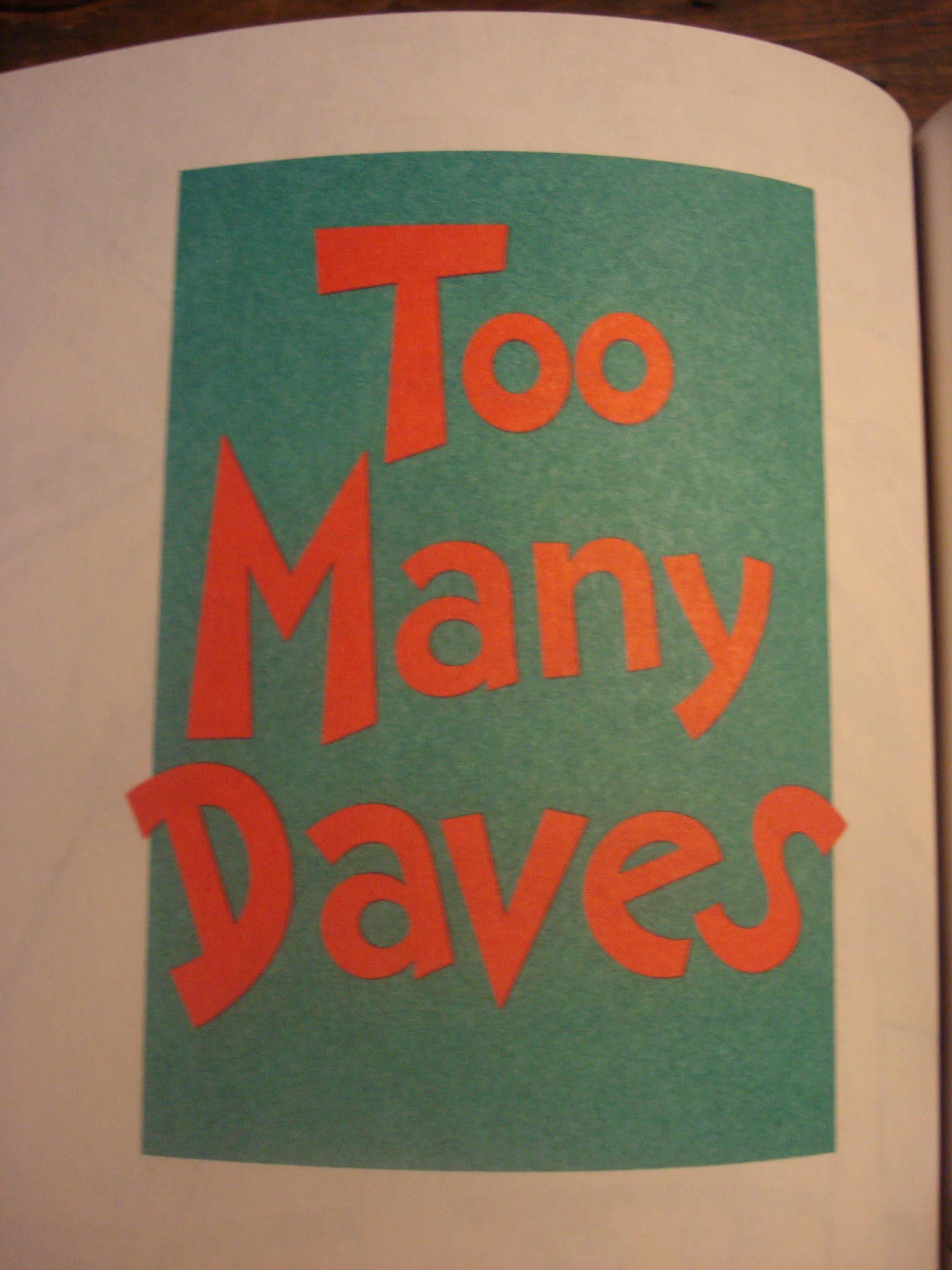 Hymies Vintage Records · Too Many Daves