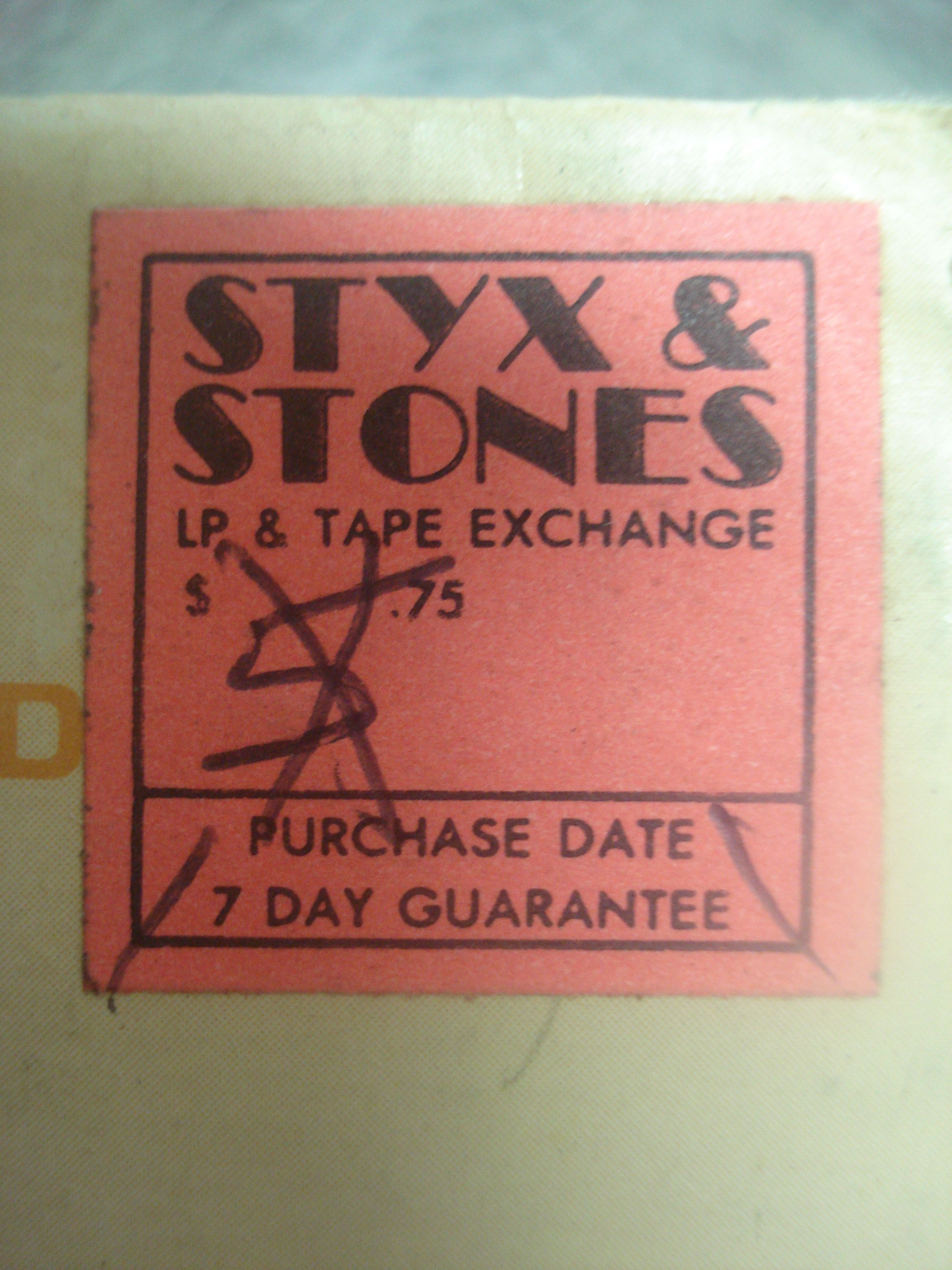 Hymies Vintage Records · Styx and Stones