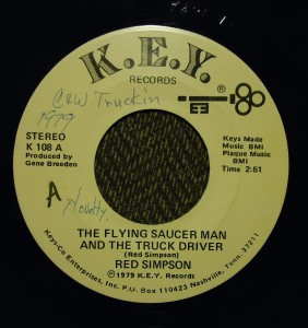 flying saucer man and the truck driver