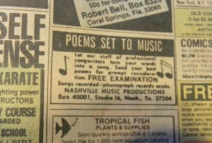 poems set to music