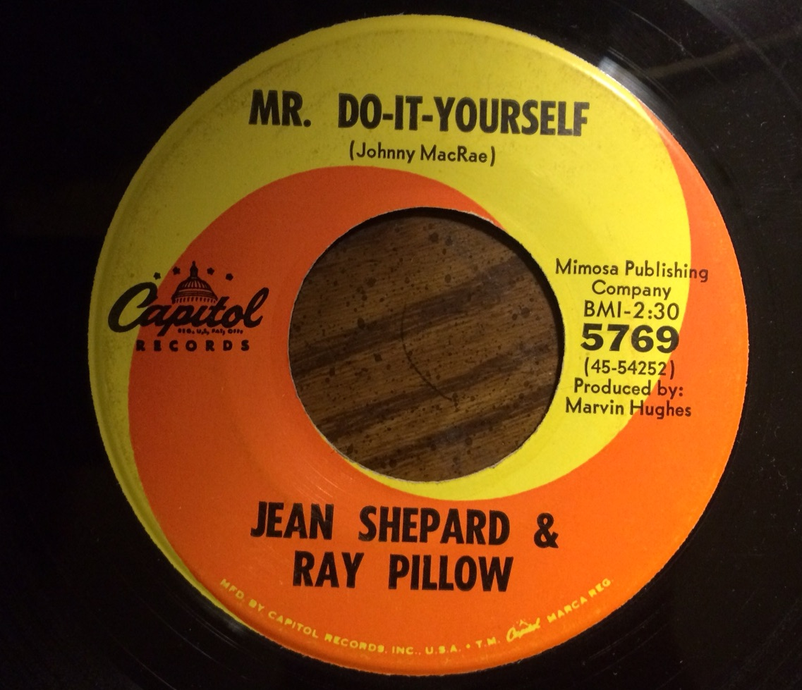 Hymies vintage records mr do it yourself a funny song recorded by jean shepard and ray pillow these two recorded an album together from which the hit single ill take the dog acts out how the solutioingenieria Image collections